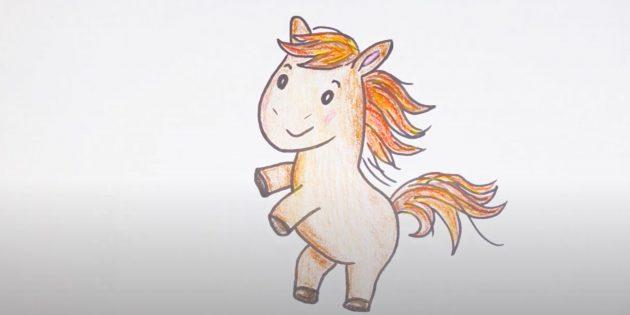 Cartoon paard ingevoegd