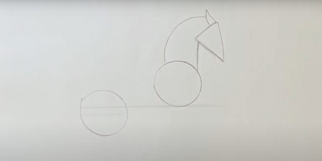 Hoe een paard te tekenen: maak een hoofd en nek