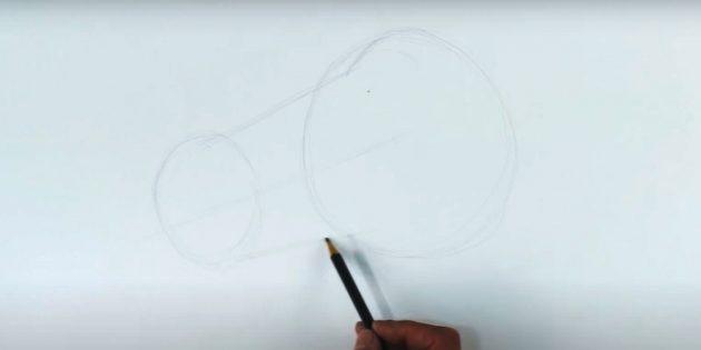 Hoe een paard te tekenen: noteer het gezicht