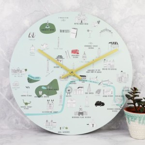 London Map Wall Clock   Homeware   Lisa Angel London Map Wall Clock