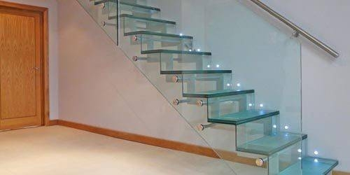 Stair Railings Beautiful Glass Railing Designs Steel Little Big | Stairs Railing Designs In Steel With Glass | Single Wall | Interior | Eye Catching | Steel Main Gate | Contemporary