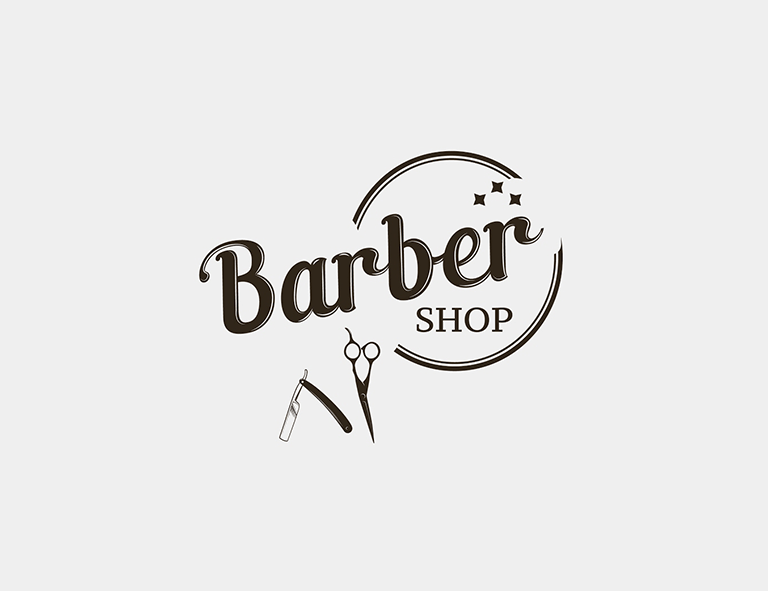 barber logo svg - 768×591