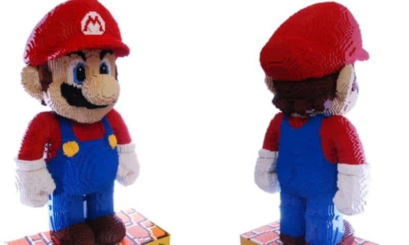 10 Of The Greatest Lego Structures Ever Created An average brick layer  Dirk Van Haesbroeck  became famous for recording  himself creating a huge Mario character out of over 42 000 Lego blocks