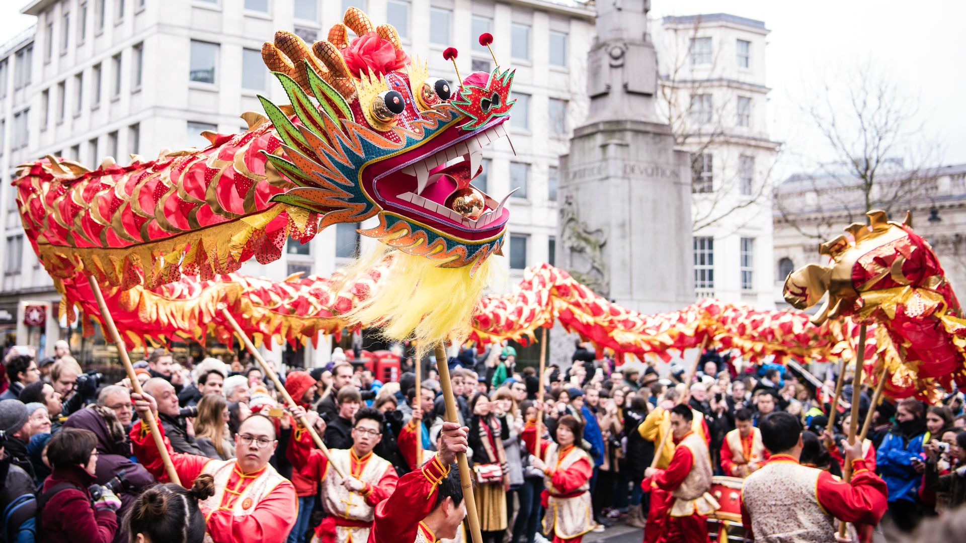 Chinese New Year 2018 in London   Special Event   visitlondon com Dragon dancers at Chinese New Year celebrations in London  Photo  Jon Mo    LCCA