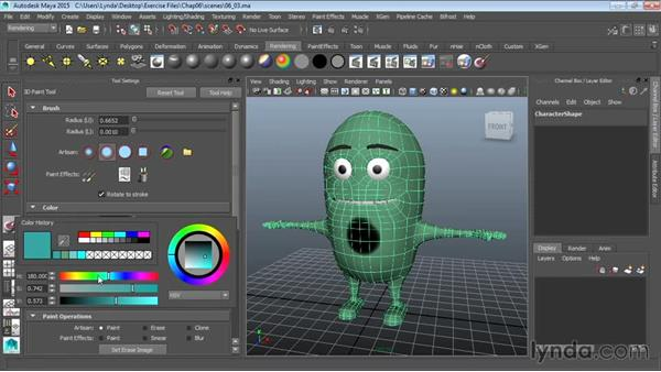 Creating A Character Texture With 3d Paint