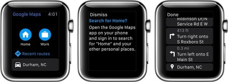 Google Maps for iOS Gains Apple Watch App   Mac Rumors applewatchgooglemaps