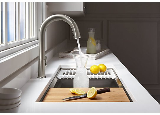 CES 2018  Kohler s New Sensate Kitchen Sink Faucet and DTV  Shower     A spokeswoman for Kohler told MacRumors that its Sensate touchless kitchen  faucet and DTV  shower system will be the first of the Kohler Konnect  products to