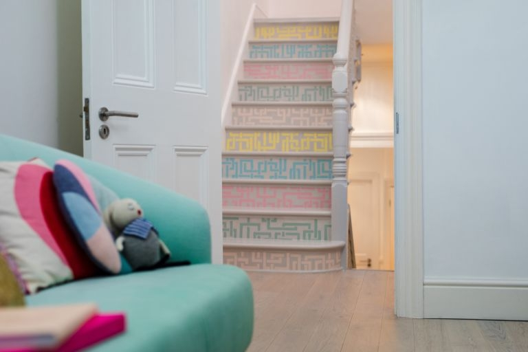 Painting Stairs 10 Ideas And Tips On How To Update Your Stairs | Stairs Wall Paint Design | Luxury Staircase Wall | Wallpaper | Wall Colour | Beautiful | Wall Painting