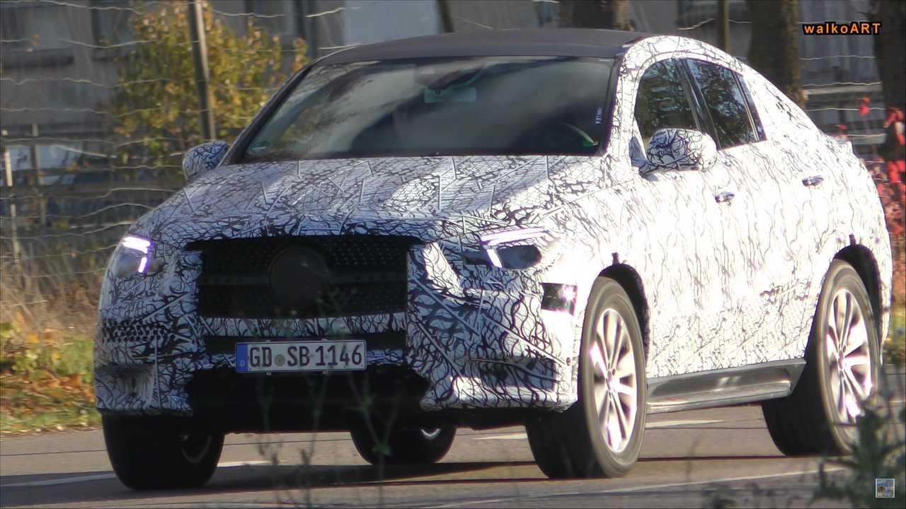 New Mercedes Benz Glb Class Gle Coupe Spied Out And About