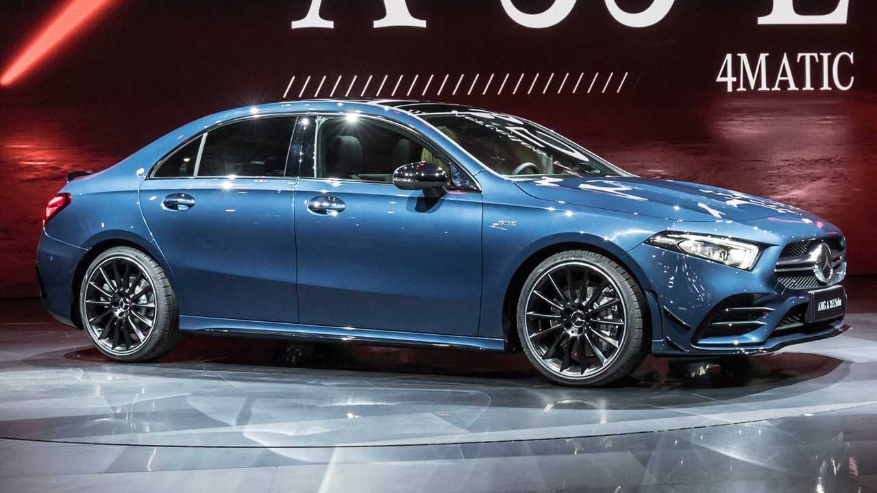 Mercedes Amg A35l Revealed With Extra Length Same Power