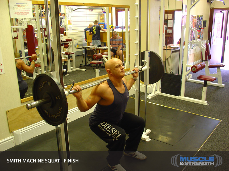 Smith Machine Squat Video Exercise Guide Amp Tips Muscle