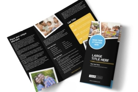 Online Brochure Maker   MyCreativeShop Family Photography Service Tri Fold Brochure Template