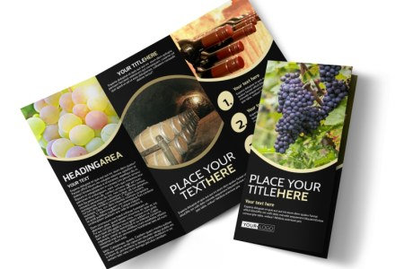 Online Brochure Maker   MyCreativeShop Winery   Wine Making Tri Fold Brochure Template