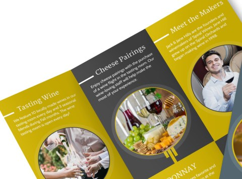 Grabs Full Pixels » Design Custom Wine Brochures Online   MyCreativeShop Wine Tasting Tri Fold Brochure Template