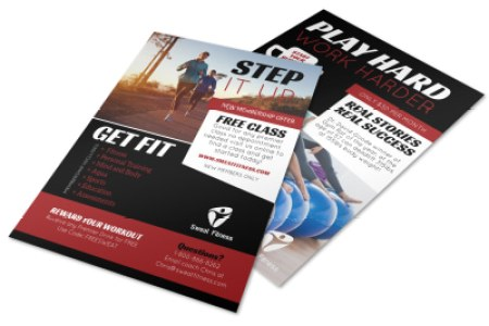 Step Up Fitness Membership Flyer Template   MyCreativeShop