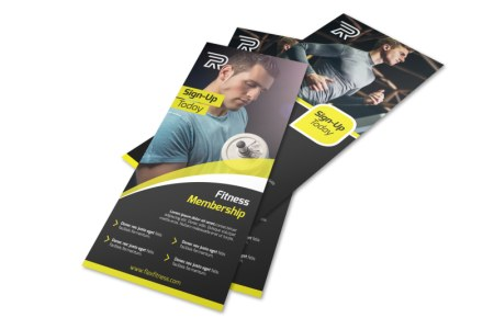 Fitness Member Details Flyer Template   MyCreativeShop Fitness Member Details Flyer Template