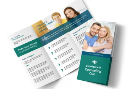 Medical   Health Care Brochure Templates   MyCreativeShop Happy Counseling Tri Fold Brochure Template