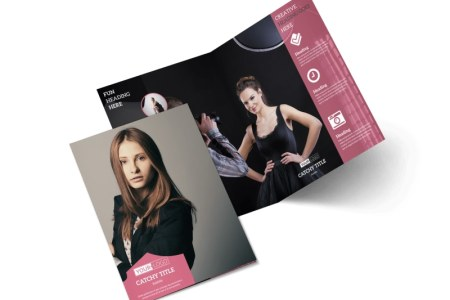 Fashion Agency Brochure Template   MyCreativeShop Fashion Agency Bi Fold Brochure Template 2