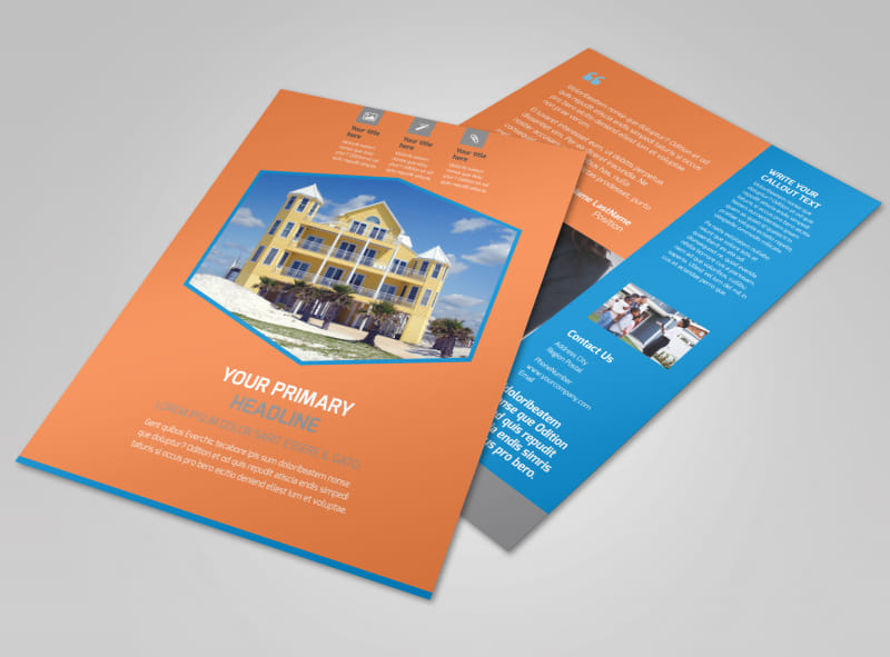 Property Management Flyer Template   MyCreativeShop Property Management Flyer Template
