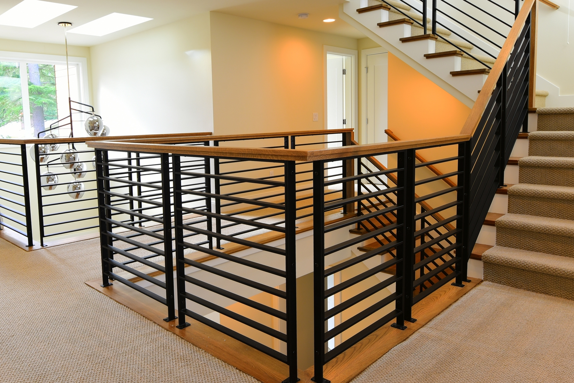 Stair Systems Stairs Stair Parts Newels Balusters And | Black Iron Pipe Handrail | Cast Iron | Horizontal Pipe | Paint Pipe | Stair Outdoor Decatur | Railing Aluminium Pipe