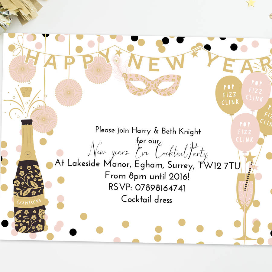 funny new year s eve invitation wording