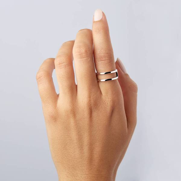 double band ring by lily   roo   notonthehighstreet com Double Band Ring