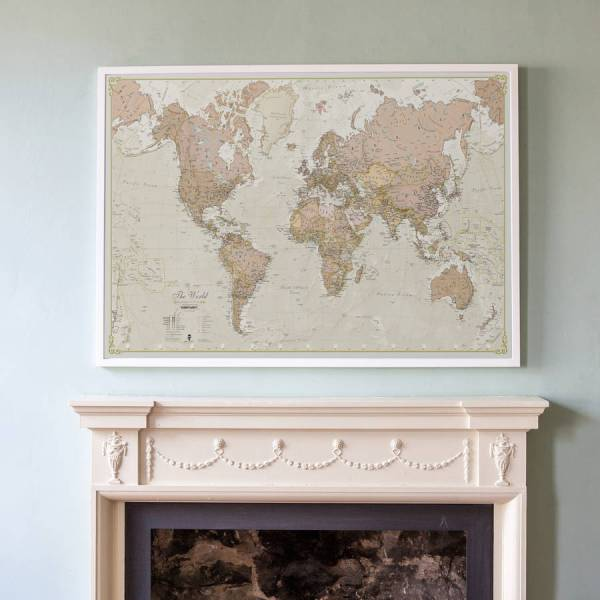 antique map of the world by maps international   notonthehighstreet com Antique Map Of The World