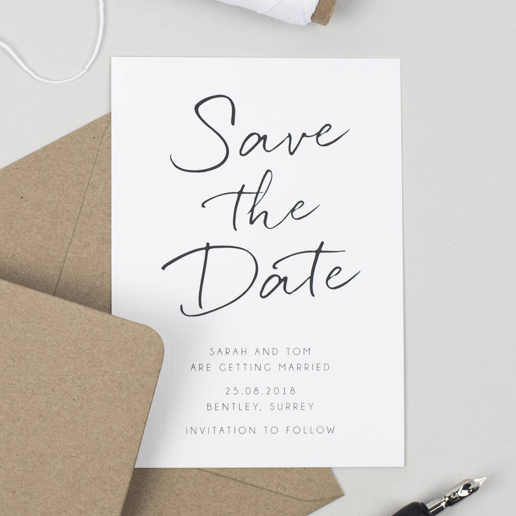 Save Date Stationery