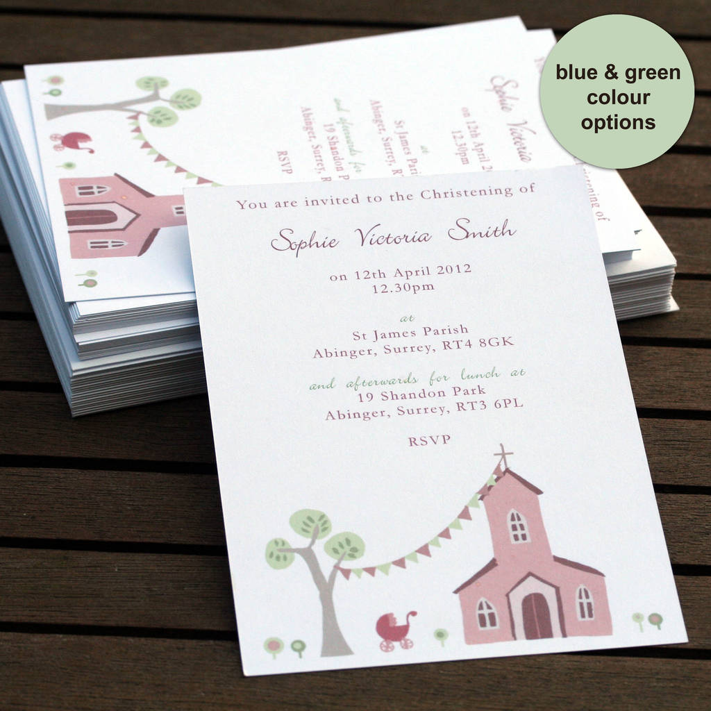 Personalised Baptism Invitations