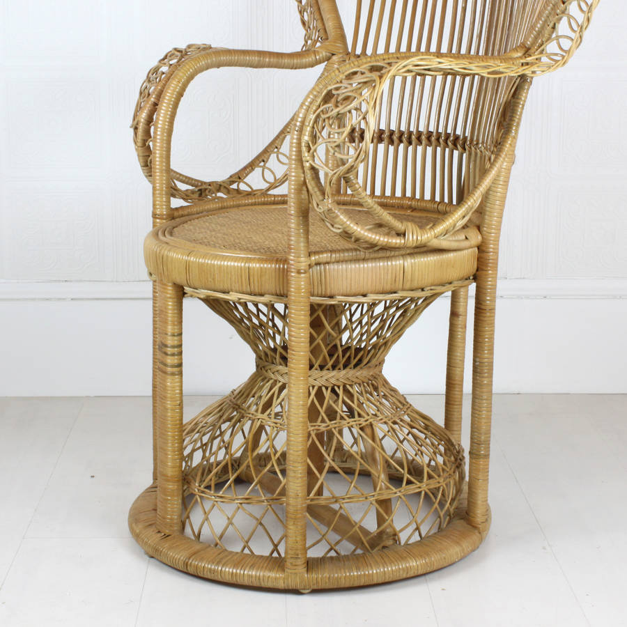 elaborate rattan peacock chair by out there interiors     Elaborate Rattan Peacock Chair
