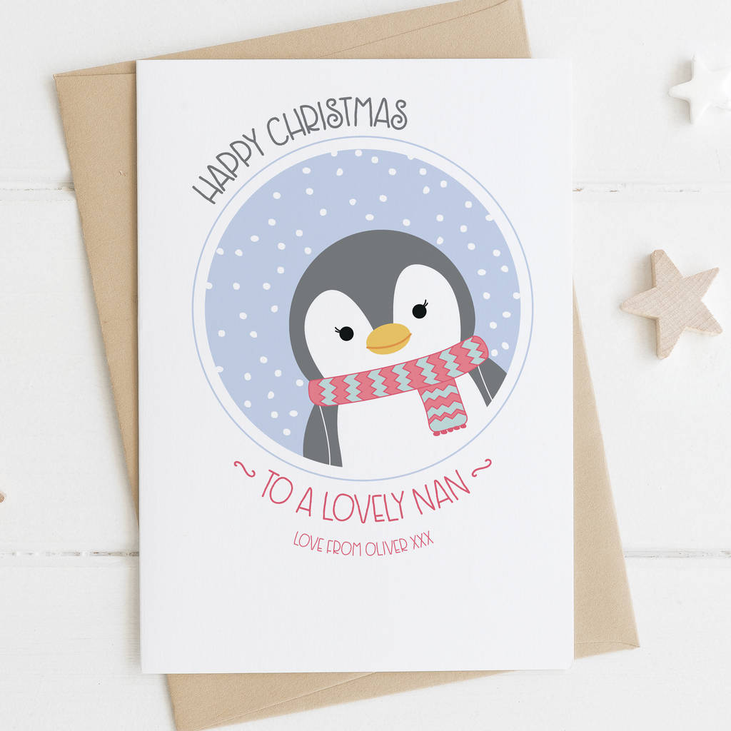 cute penguin christmas card for grandma by wink design ...