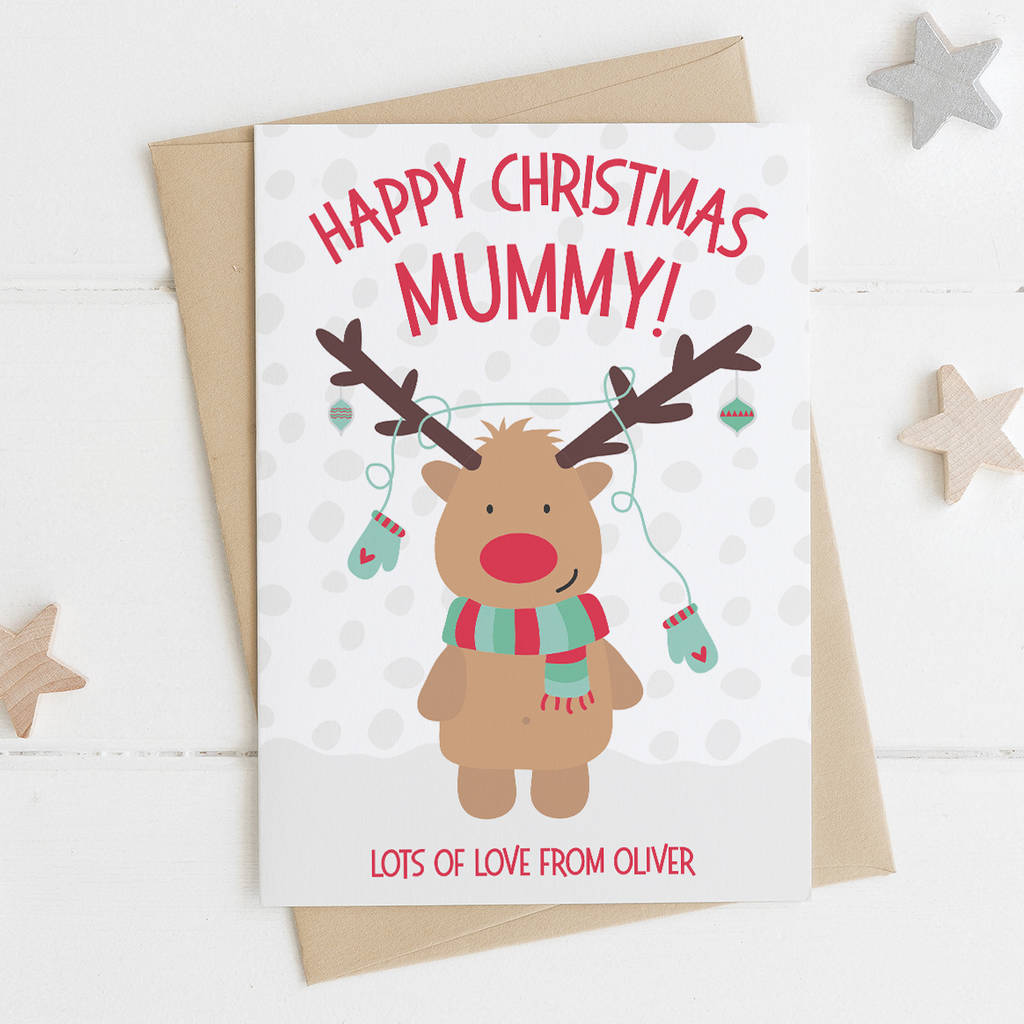 cute personalised mummy christmas card by wink design ...