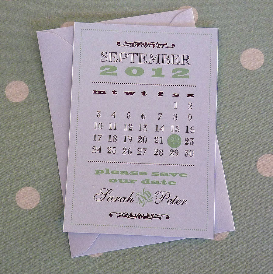 Save Date Wedding Stationery