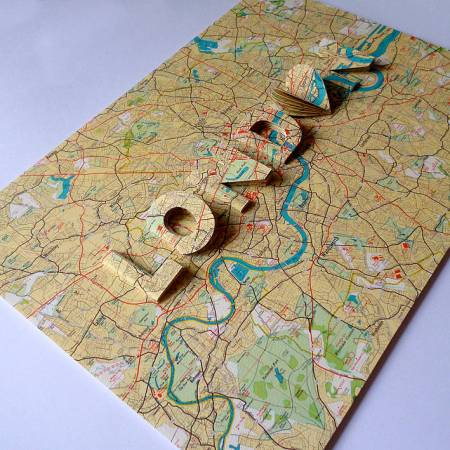london letter map artwork by artstuff   notonthehighstreet com London Letter Map Artwork