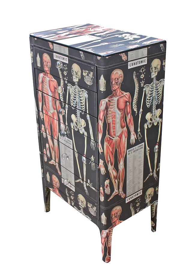 Anatomy Skeleton Chest Of Drawers By Bryonie Porter