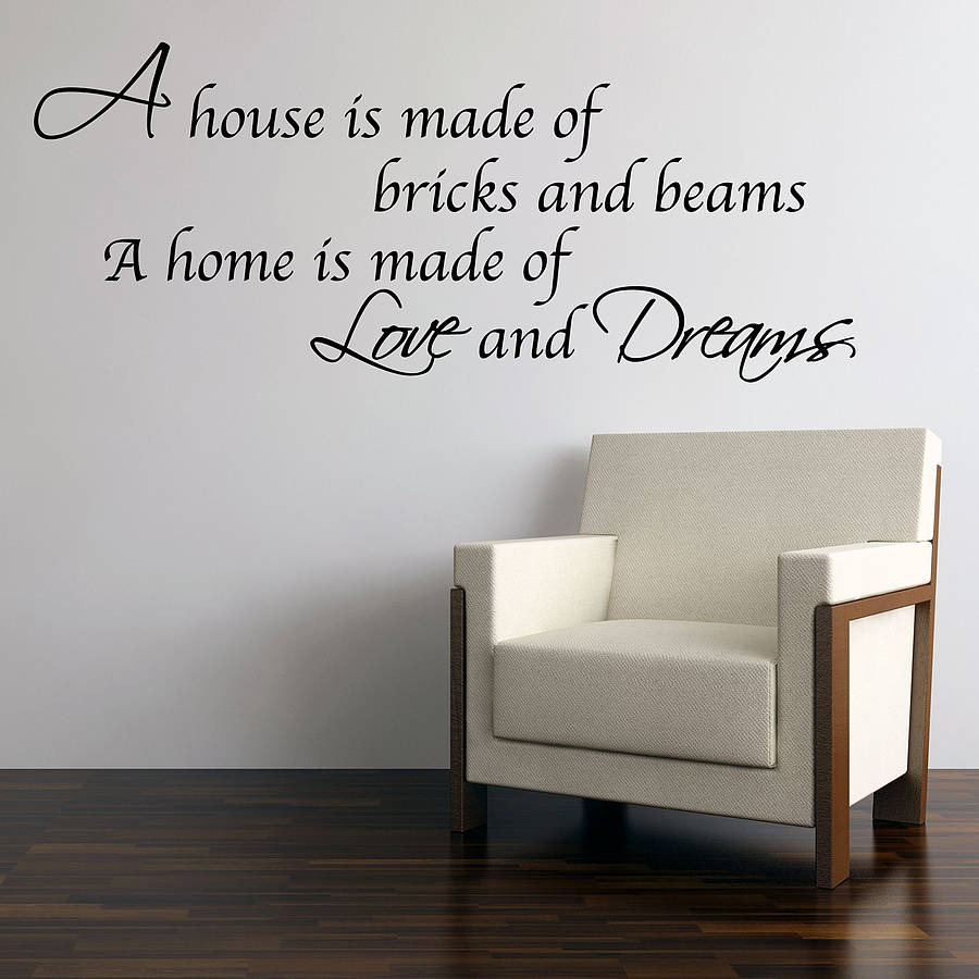 Love And Dreams Home Wall Stickers By Parkins Interiors
