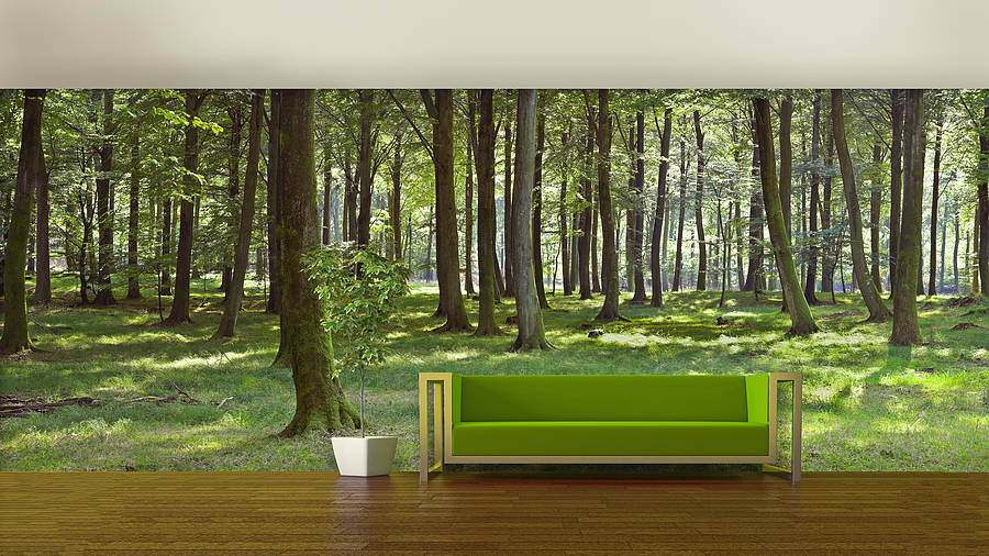 woodland forest self adhesive wallpaper by oakdene designs     Woodland Forest Self Adhesive Wallpaper