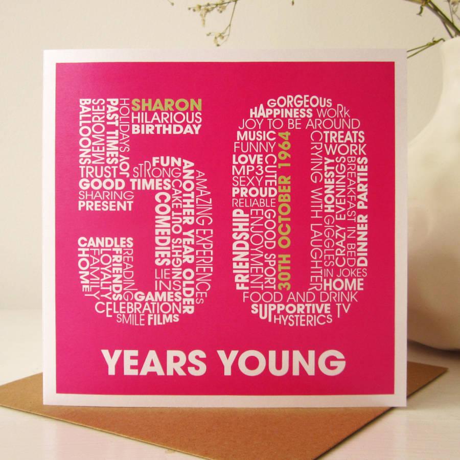 50th Birthday Card Special
