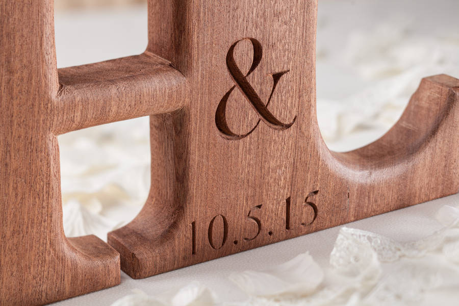 carved linked wooden letters by house of carvings     Carved Linked Wooden Letters