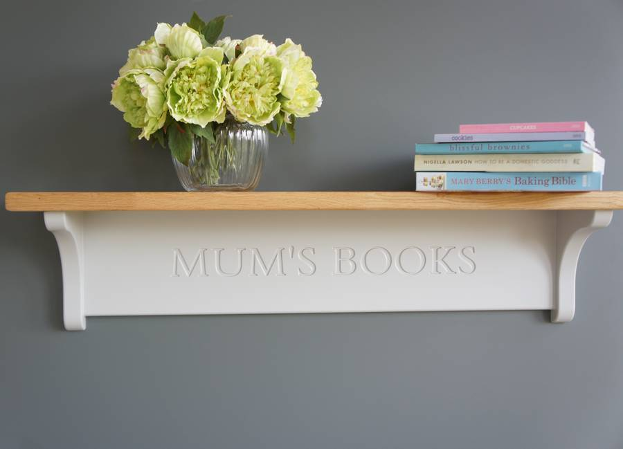 personalised shelf with oak top by chatsworth cabinets ...