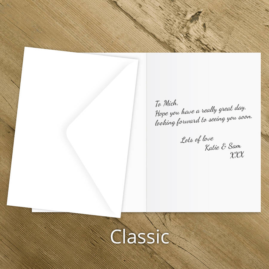 Theme Godfather Birthday Card