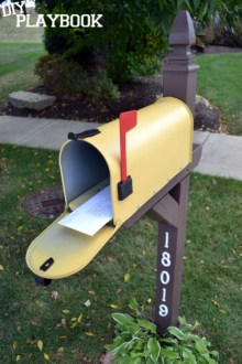 15 Mailbox Makeovers for Instant Curb Appeal yellow mailbox