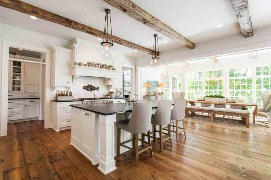 35  Amazingly creative and stylish farmhouse kitchen ideas Set in a shingle style New England home  this lakefront home features a  bright and airy kitchen with an open concept  Highlights includes beautiful  glass