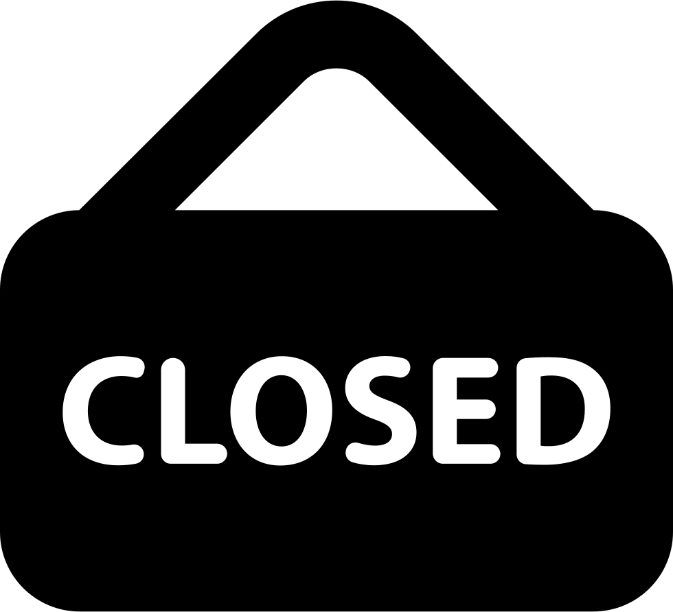Closed Sign Svg Png Icon Free Download (#25777 ...