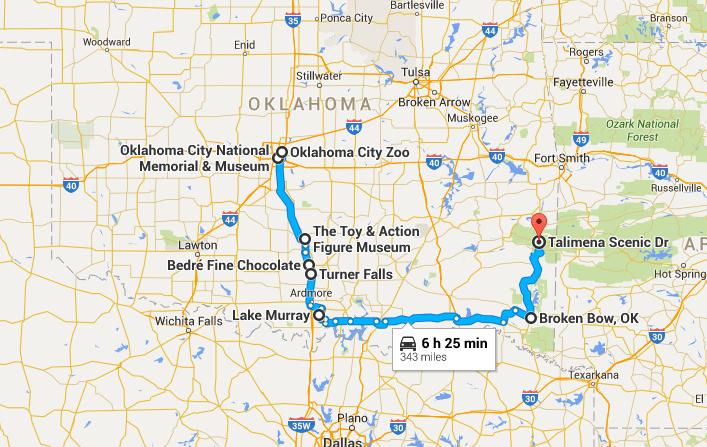 Southern Texas City Map Kansas