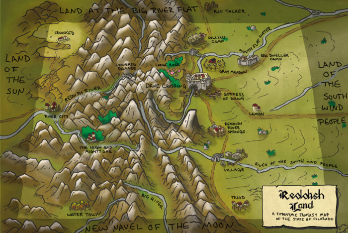 This Lord Of The Rings Inspired Map Of Colorado Is Too Perfect For Words