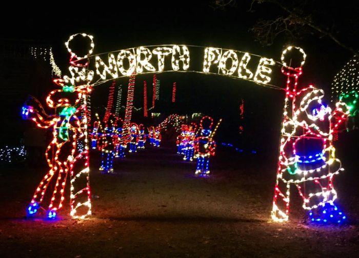Noccalula Falls Christmas Lights 2017