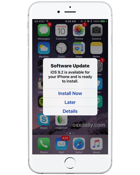 Automatically Install iOS Software Update in the Middle of the Night