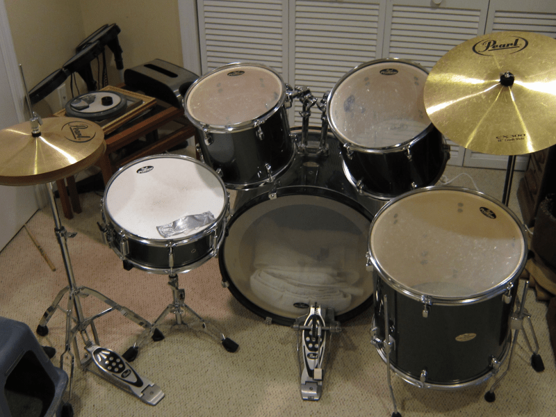 Pearl Drum Set For Sale  450   Ridgefield  CT Patch Pearl Drum Set For Sale  450