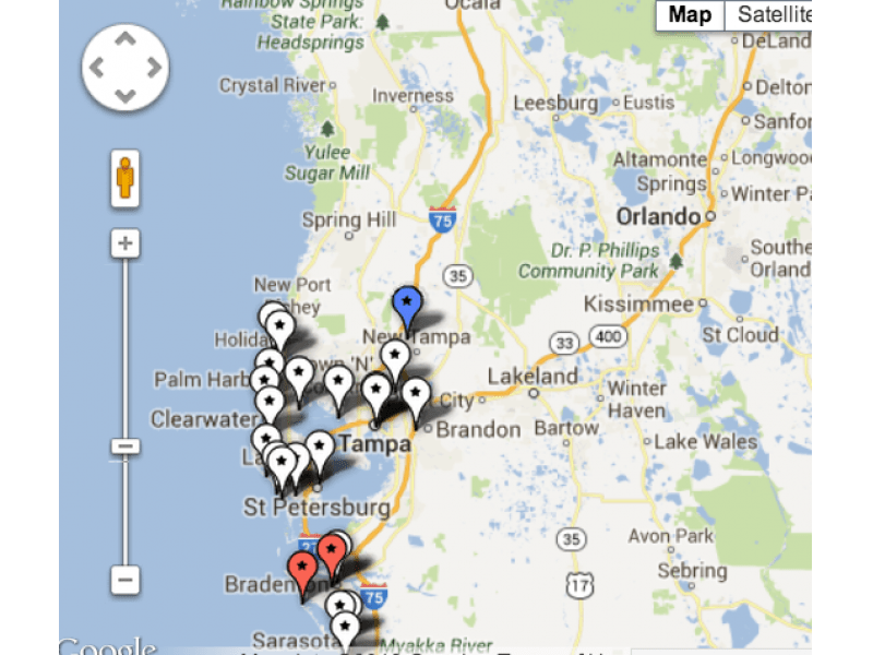 Area Port Richey New Map Tampa Bay